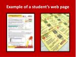 example of a student s web page
