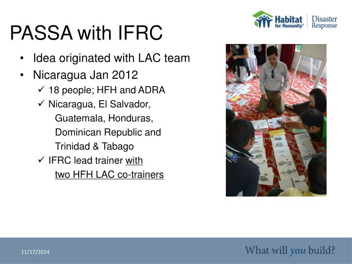 Passa with ifrc