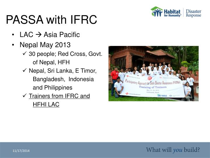 Passa with ifrc1