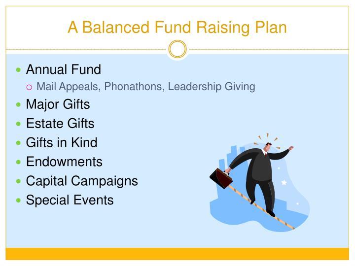 A Balanced Fund Raising Plan