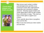 a word about plaques and thank you gifts