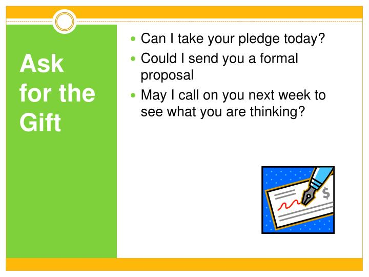 Can I take your pledge today?