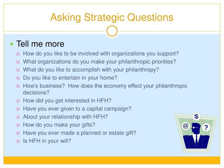 Asking Strategic Questions