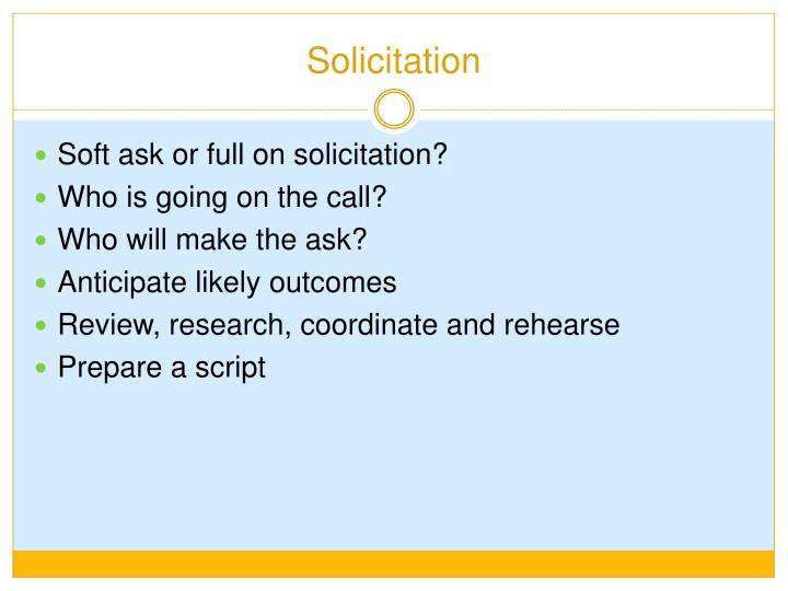 Solicitation