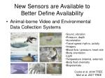 new sensors are available to better define availability