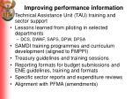 improving performance information