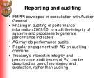 reporting and auditing