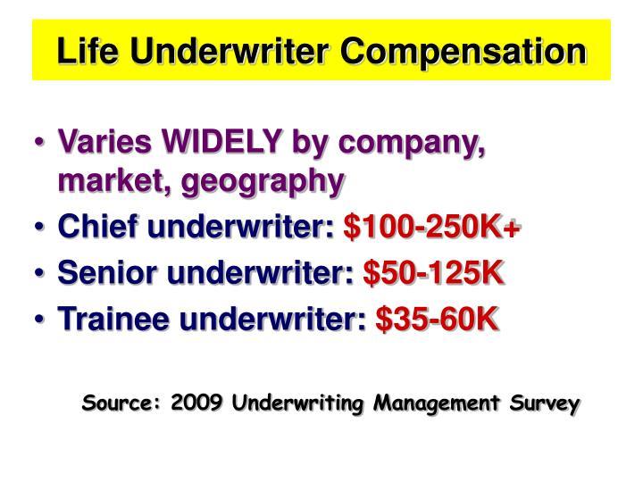 Life Underwriter Compensation