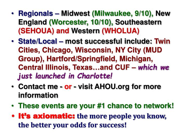 Regionals –