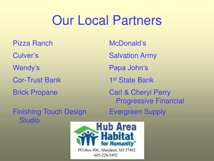 Our Local Partners