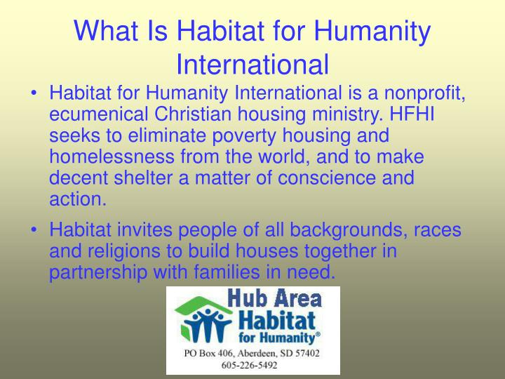 What Is Habitat for Humanity International