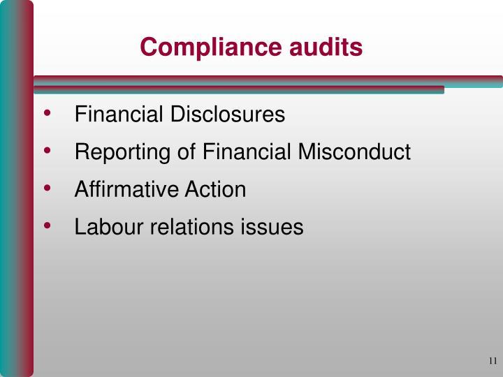 Compliance audits