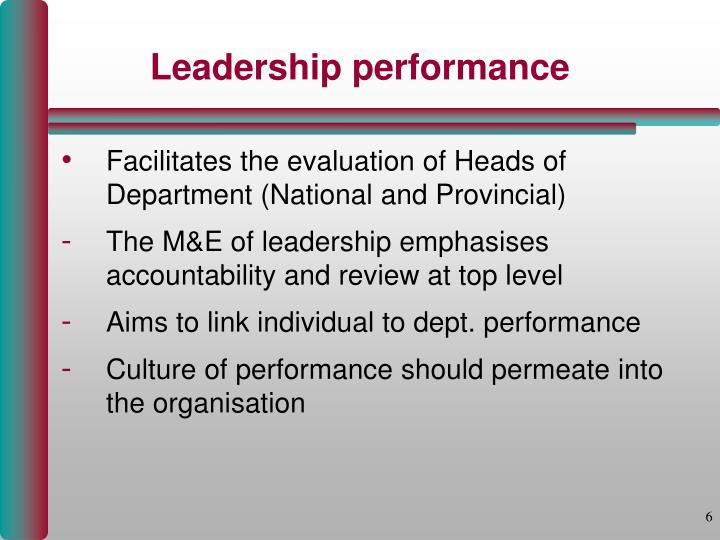 Leadership performance