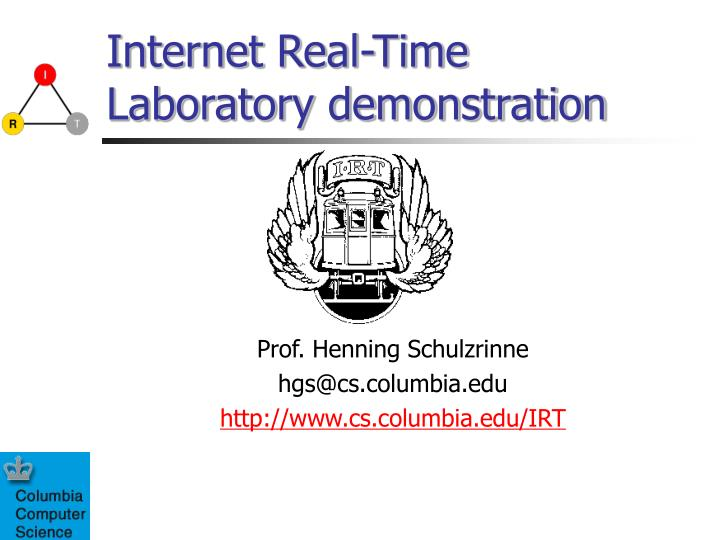 Internet real time laboratory demonstration