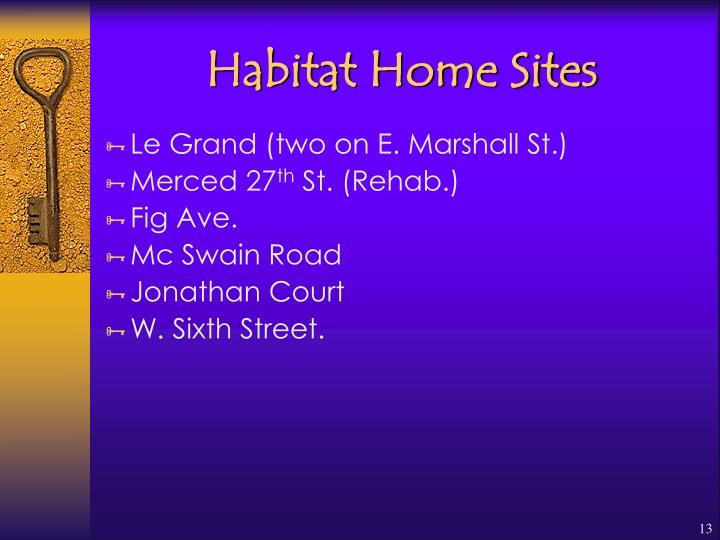 Habitat Home Sites