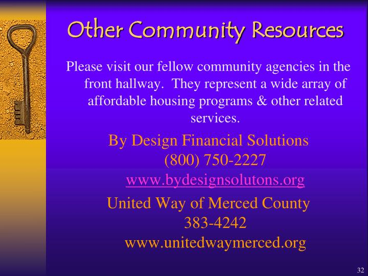 Other Community Resources