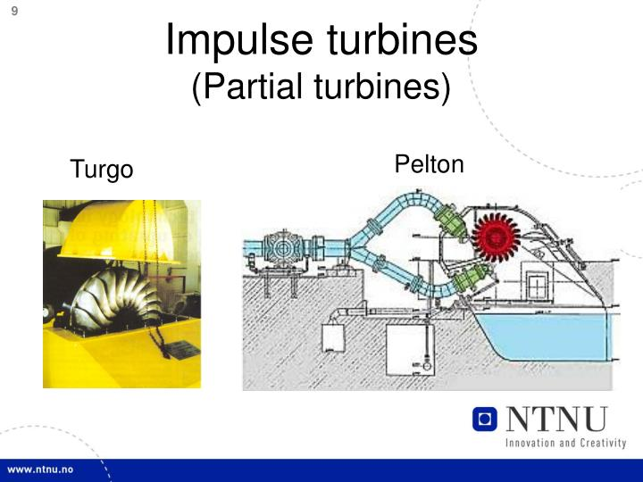Impulse turbines