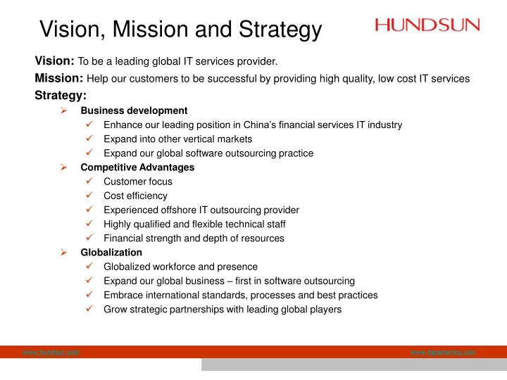 Vision, Mission and Strategy