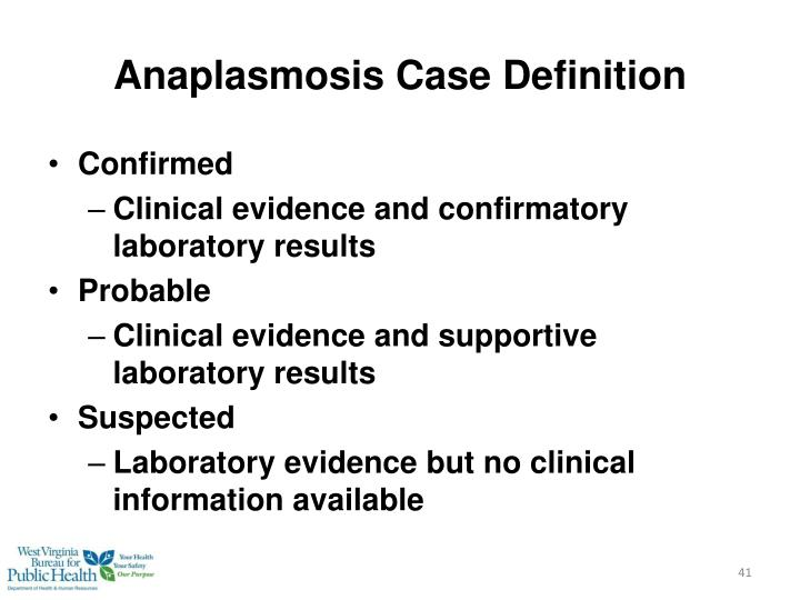 Anaplasmosis Case Definition