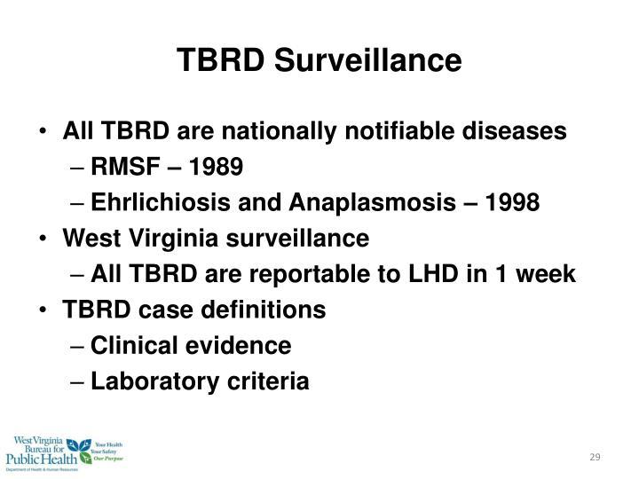 TBRD Surveillance