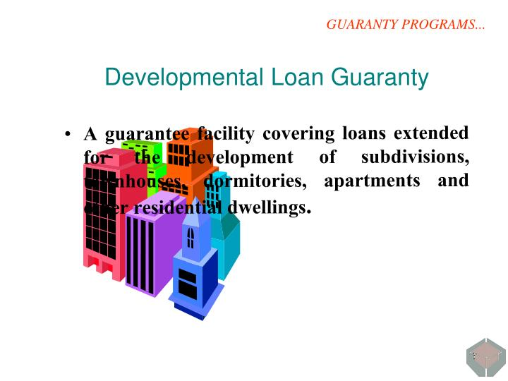 GUARANTY PROGRAMS...