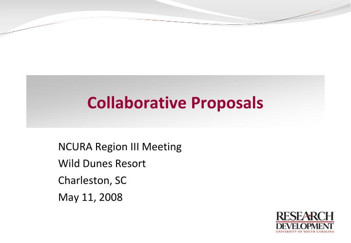 Collaborative proposals