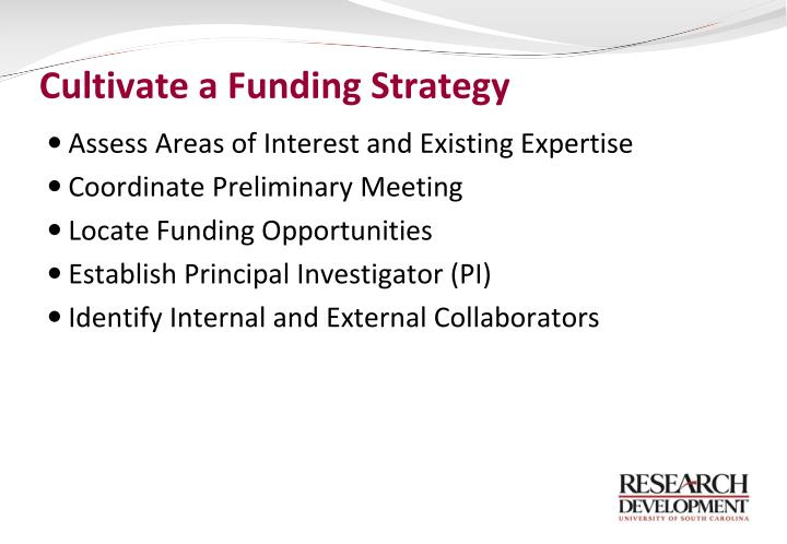Cultivate a Funding Strategy