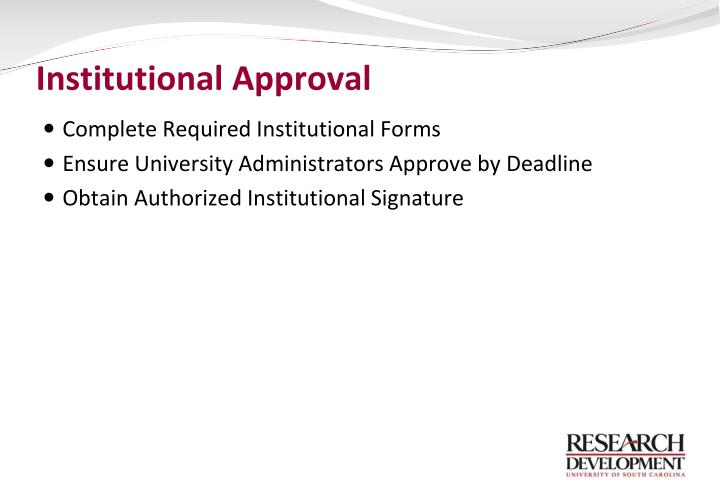 Institutional Approval