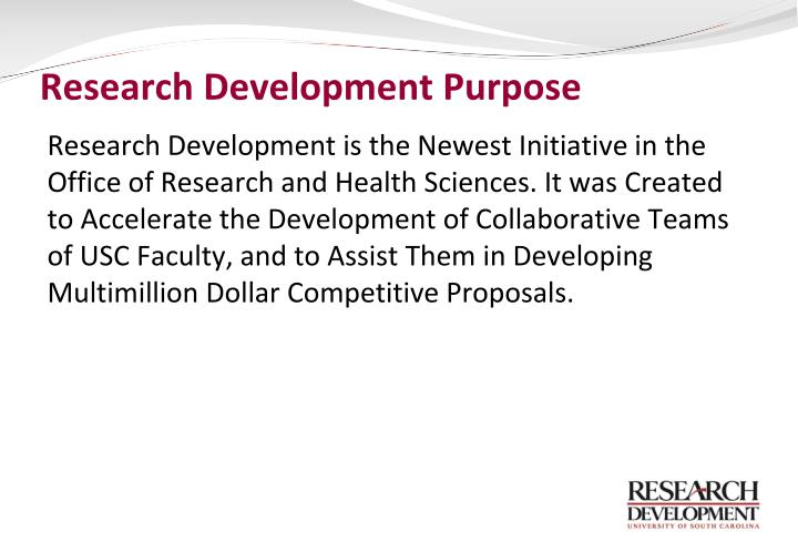Research development purpose