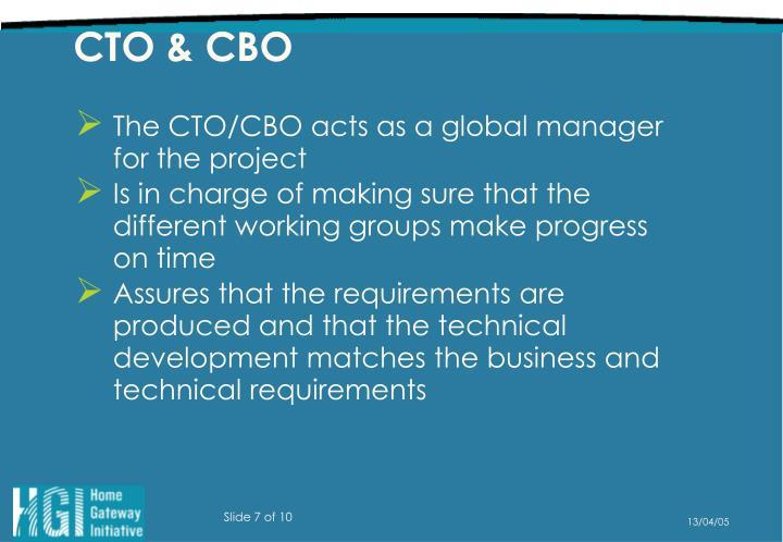 CTO & CBO