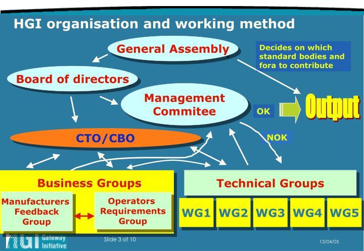 HGI organisation and working method