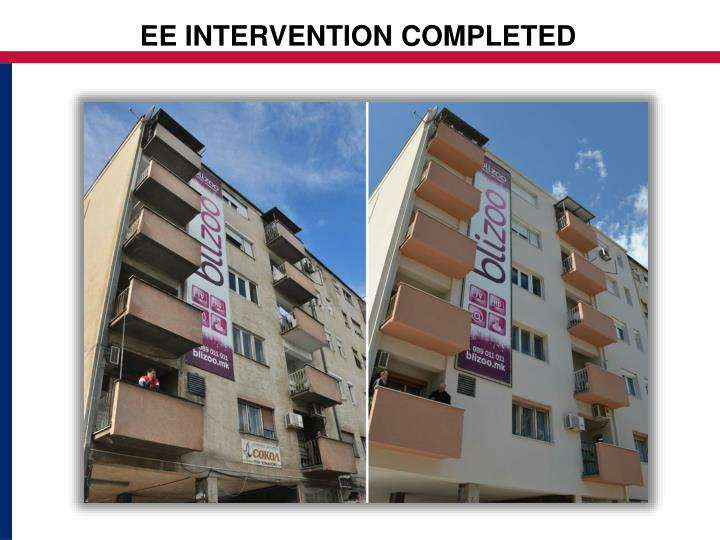 EE INTERVENTION COMPLETED