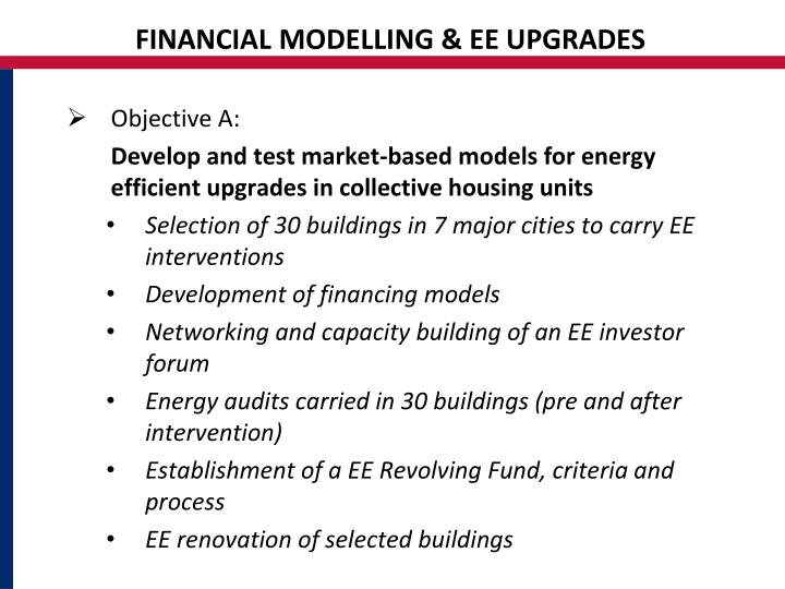 FINANCIAL MODELLING & EE UPGRADES