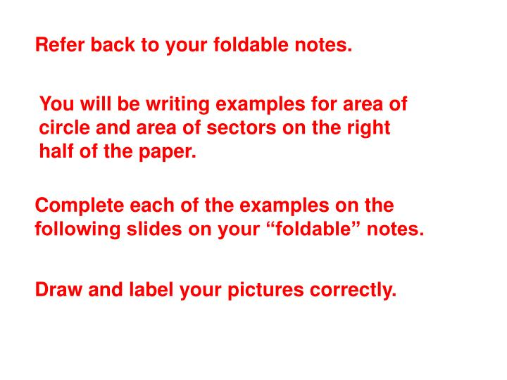 Refer back to your foldable notes.