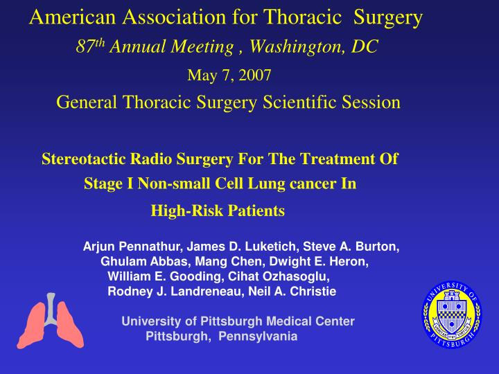 American Association for Thoracic  Surgery