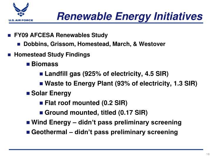 FY09 AFCESA Renewables Study