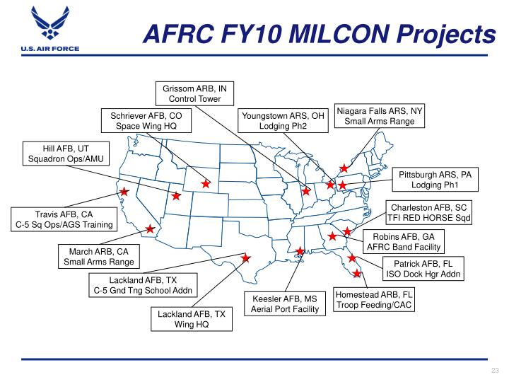 AFRC FY10 MILCON Projects
