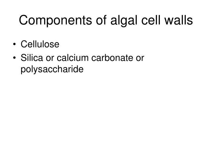 Components of algal cell walls