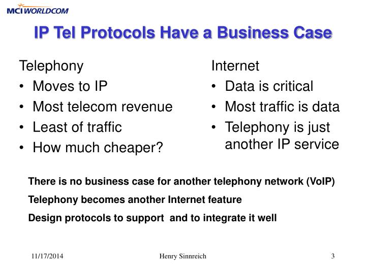 Ip tel protocols have a business case