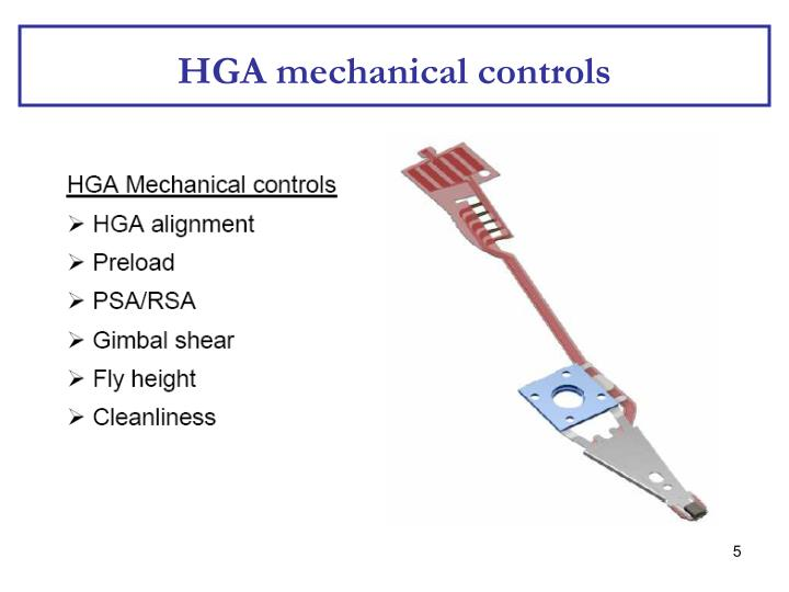 HGA mechanical controls