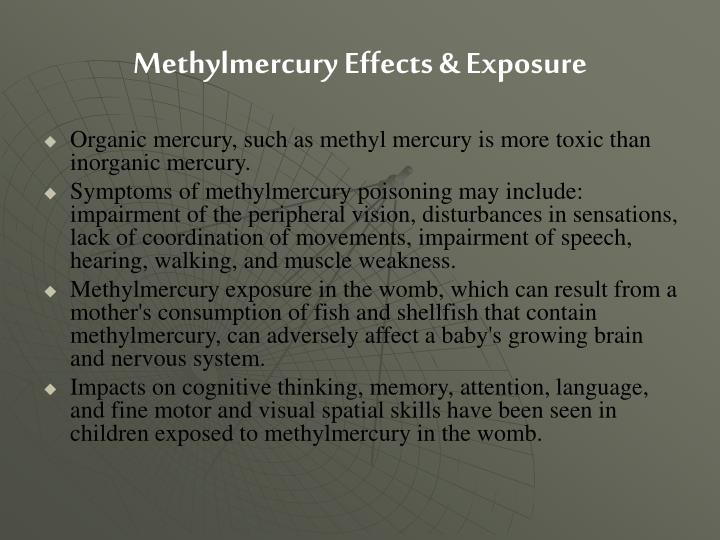 Methylmercury Effects & Exposure