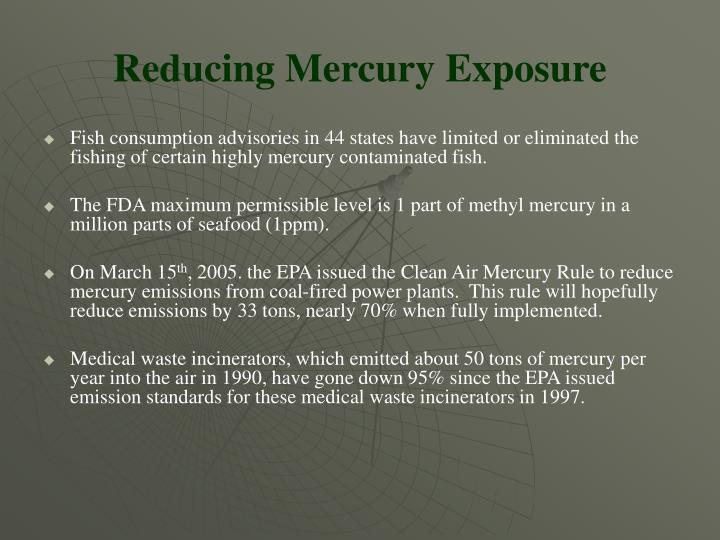 Reducing Mercury Exposure