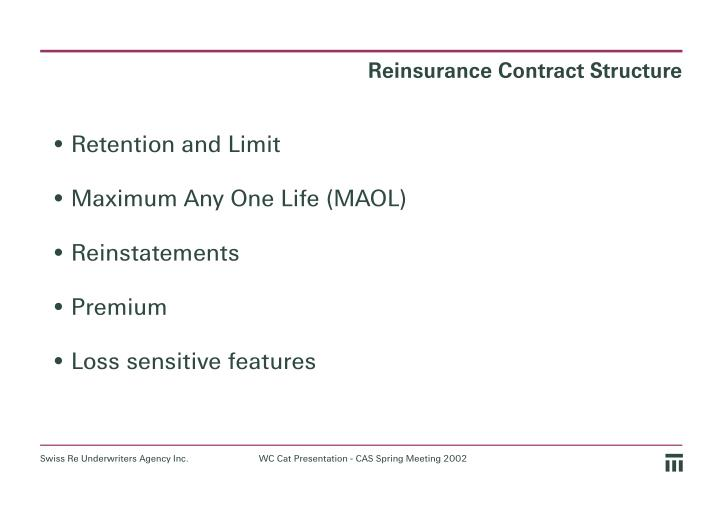 Reinsurance Contract Structure