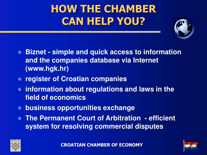 HOW THE CHAMBER