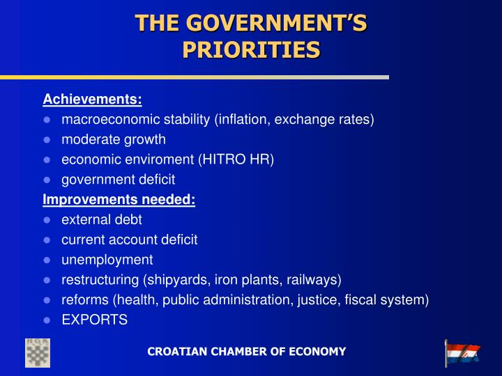 THE GOVERNMENT'S