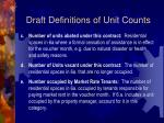 draft definitions of unit counts1