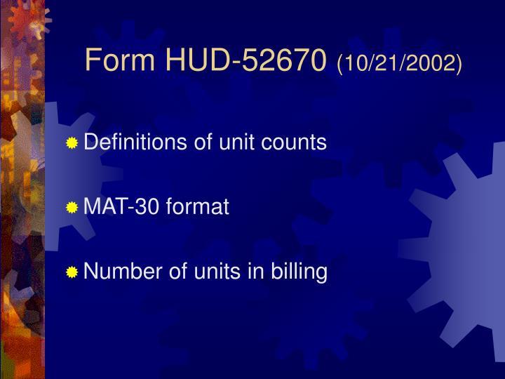 Form HUD-52670