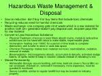 hazardous waste management disposal