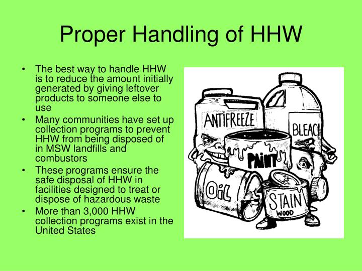 Proper Handling of HHW