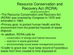 resource conservation and recovery act rcra all about prevention